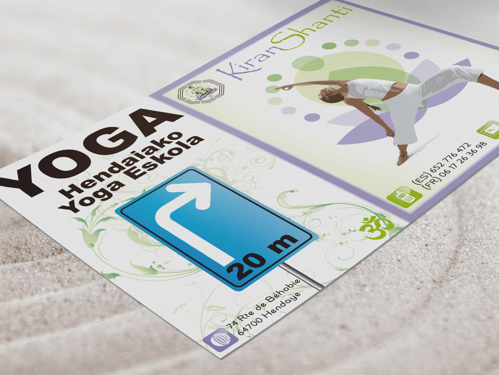 Diseño Logo. Diseño gráfico e impresión de carteles, vinilos, folletos para KiranShanti.