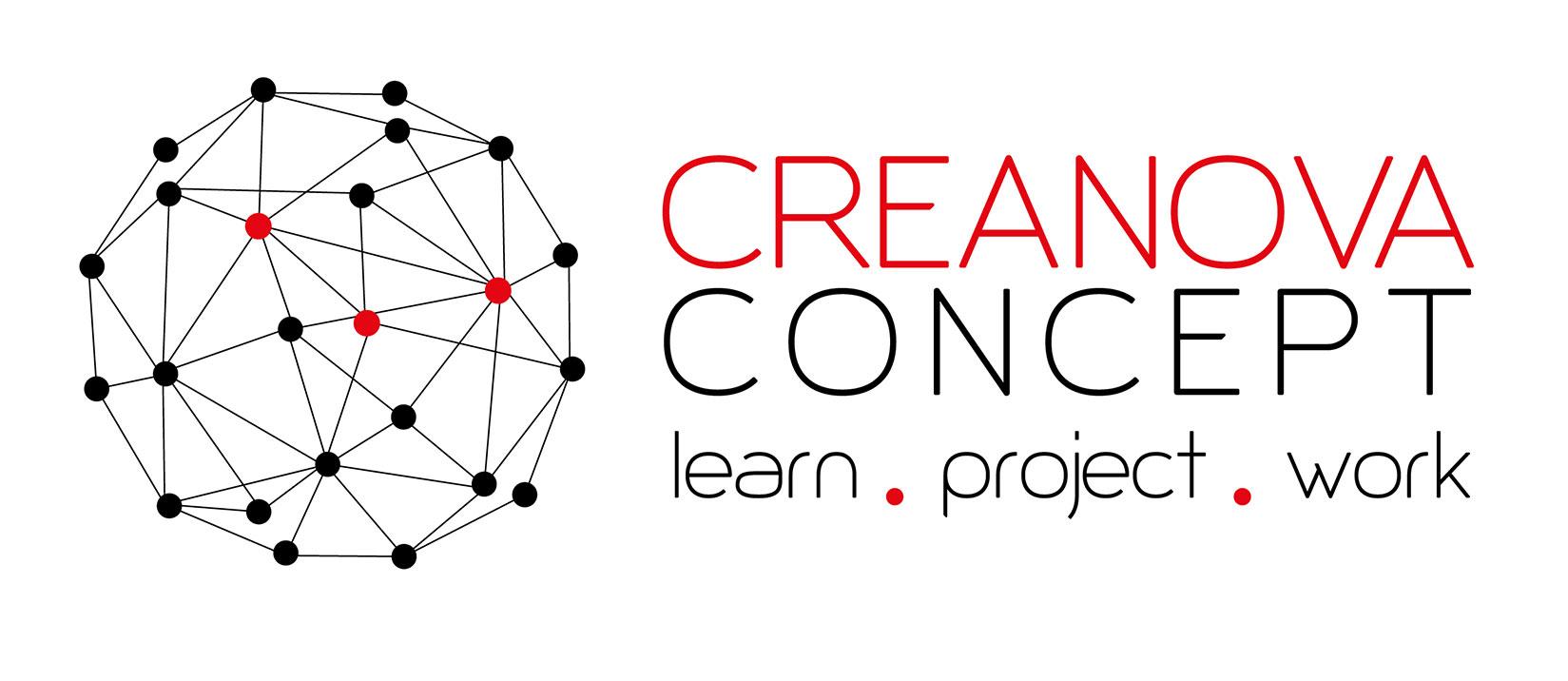 Diseño Logo: creación logotipo para CreaNova Concept. Manual de Identidad Corporativa.