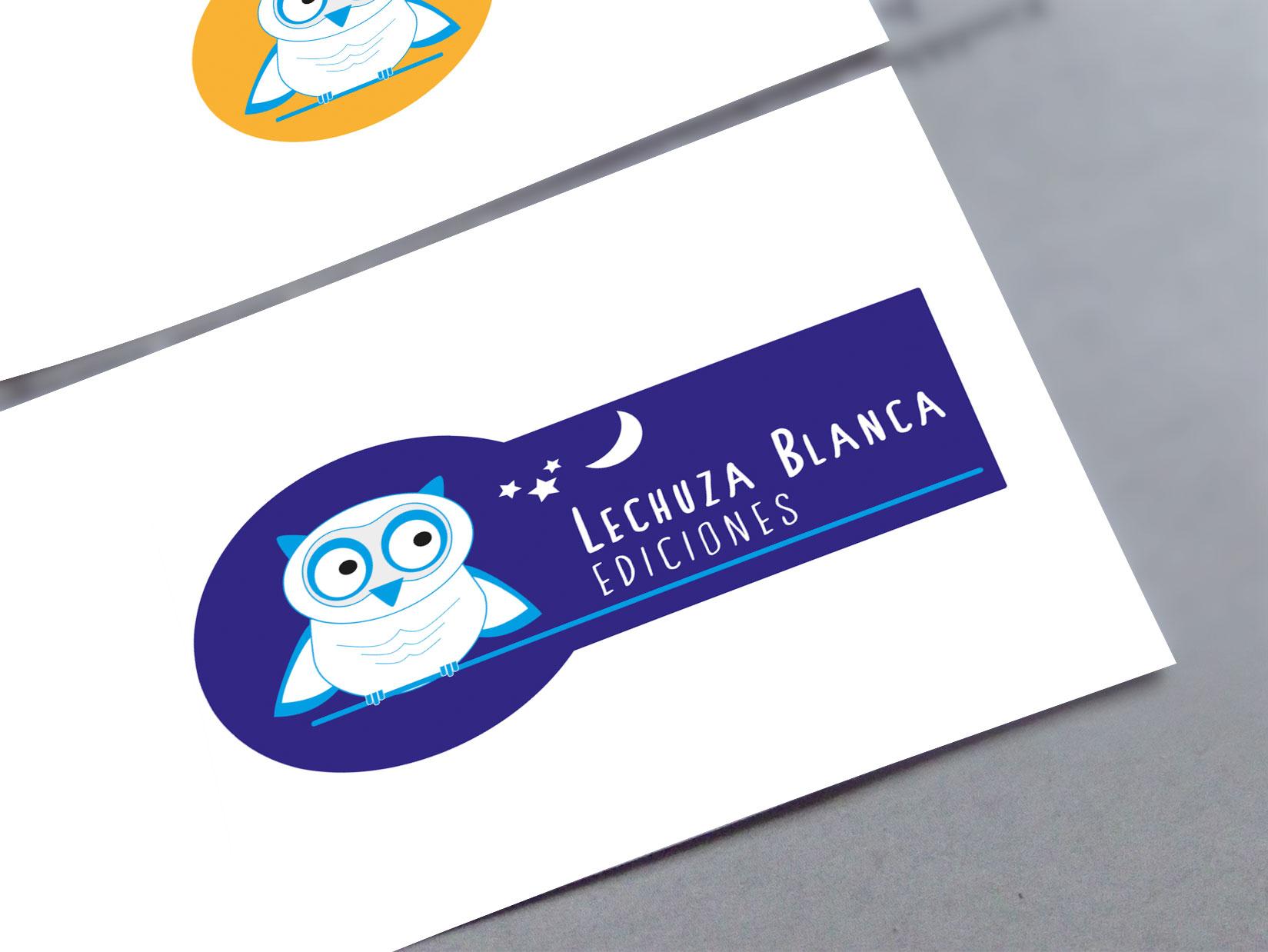 Diseño Logo: creación logotipo para la editorial Lechuza Blanca Ediciones.