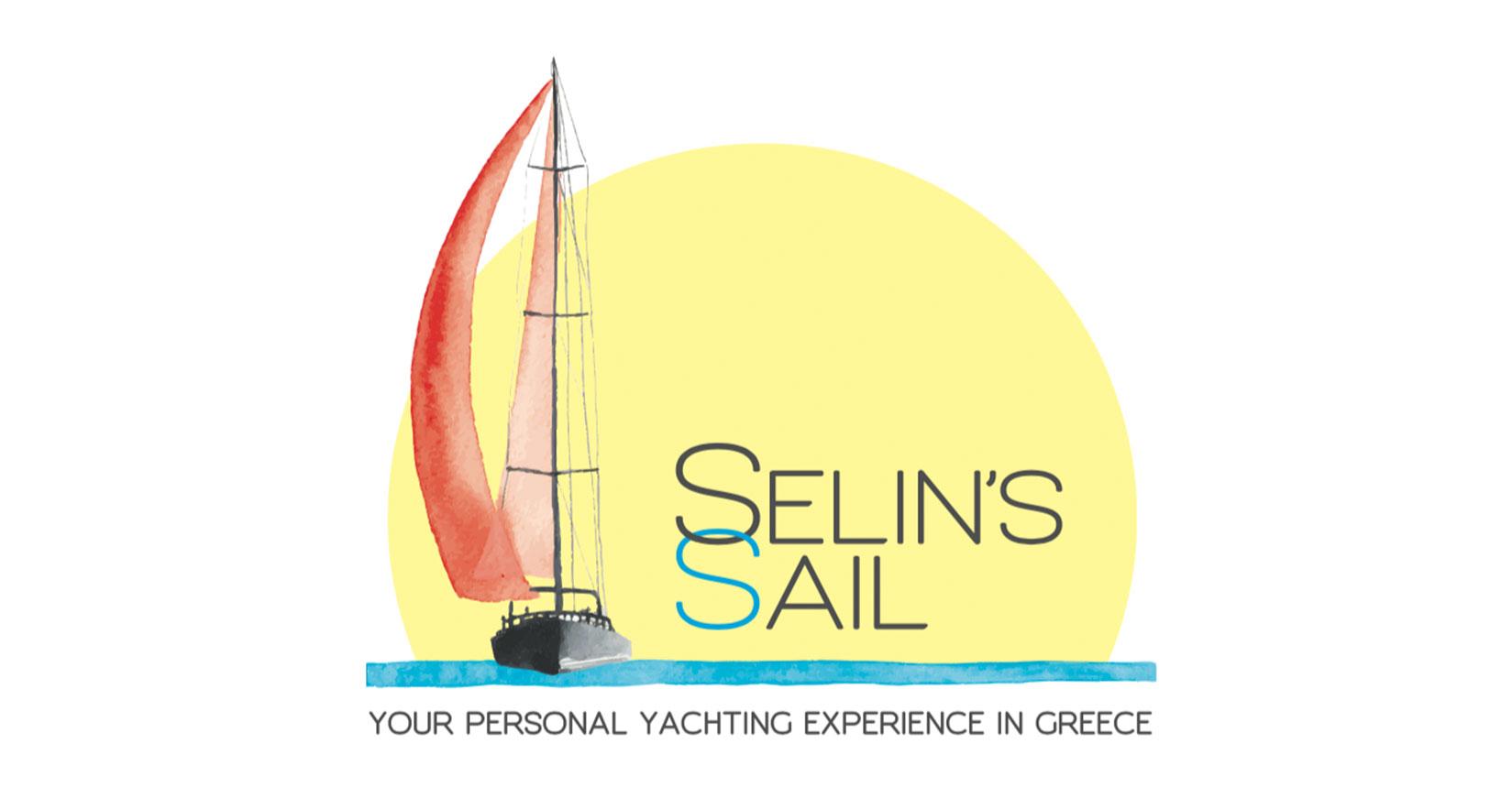 Diseño logo: creación del logo de Selin's Sail sailwithselin.com. Diseño Gráfico e Impresión: tarjetas, carteles, folletos.