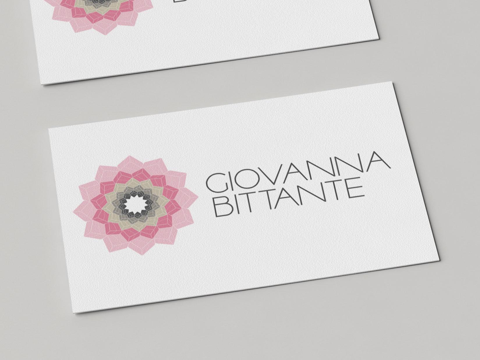 Diseño Gráfico:creación logotipo para Giovanna Bittante Design. Diseño tarjetas.