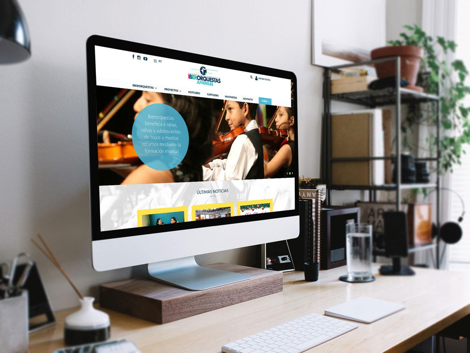 Diseño Web: diseño del sitio web responsive para Iberorquestas Juveniles.