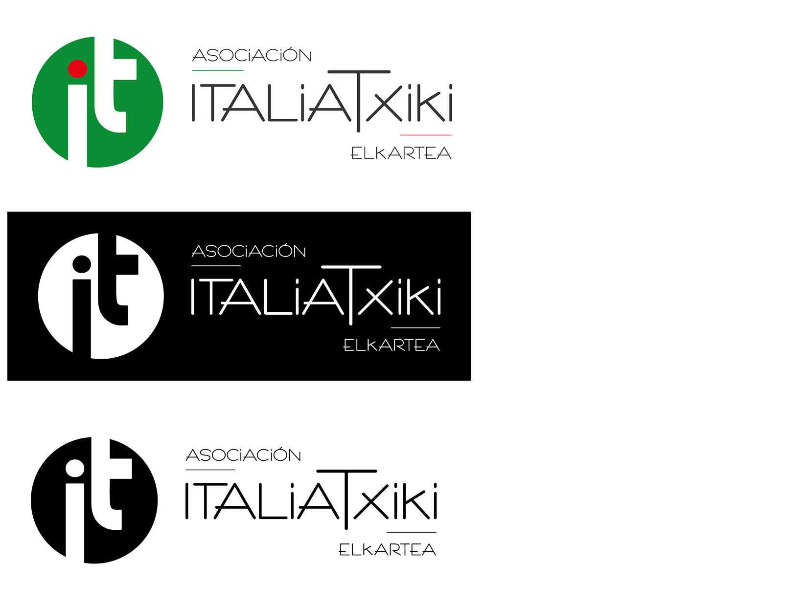 Diseño Logo: creación logotipo para la Asociación ItaliaTxiki Elkartea.