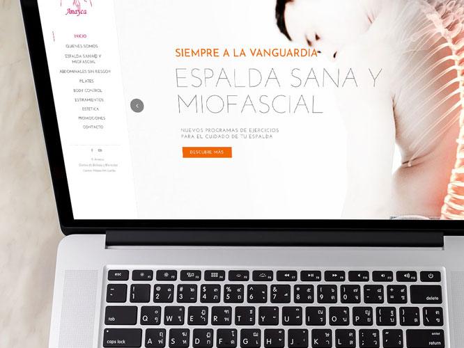 Desarrollo web responsive para Anayca.