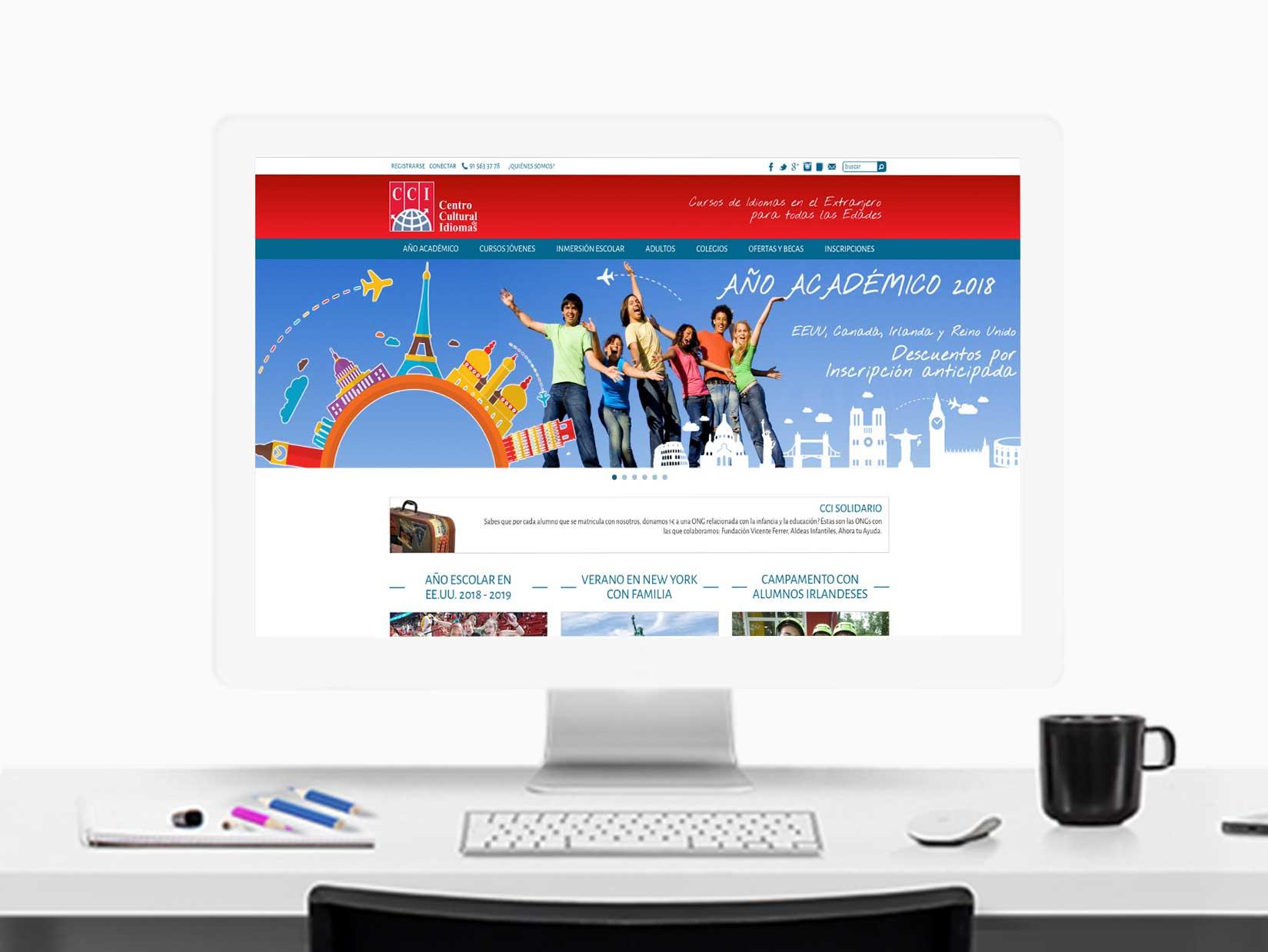 Diseño Web: diseño del sitio web responsive para CCI Idiomas.