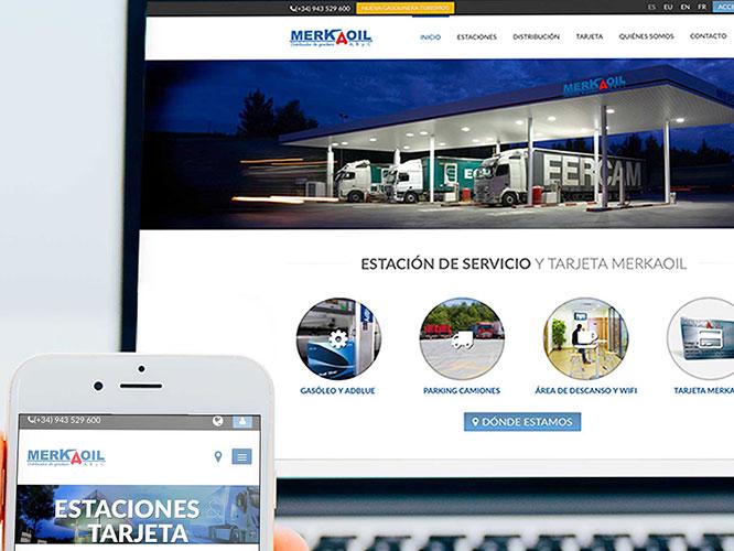 Diseño Web: diseño del sitio web responsive para MerkaOil.