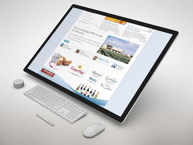 Desarrollo Web: sitio web de Domecq Bodegas para Trade, Comerciales y personal interno. Plataforma utilizada: Joomla.