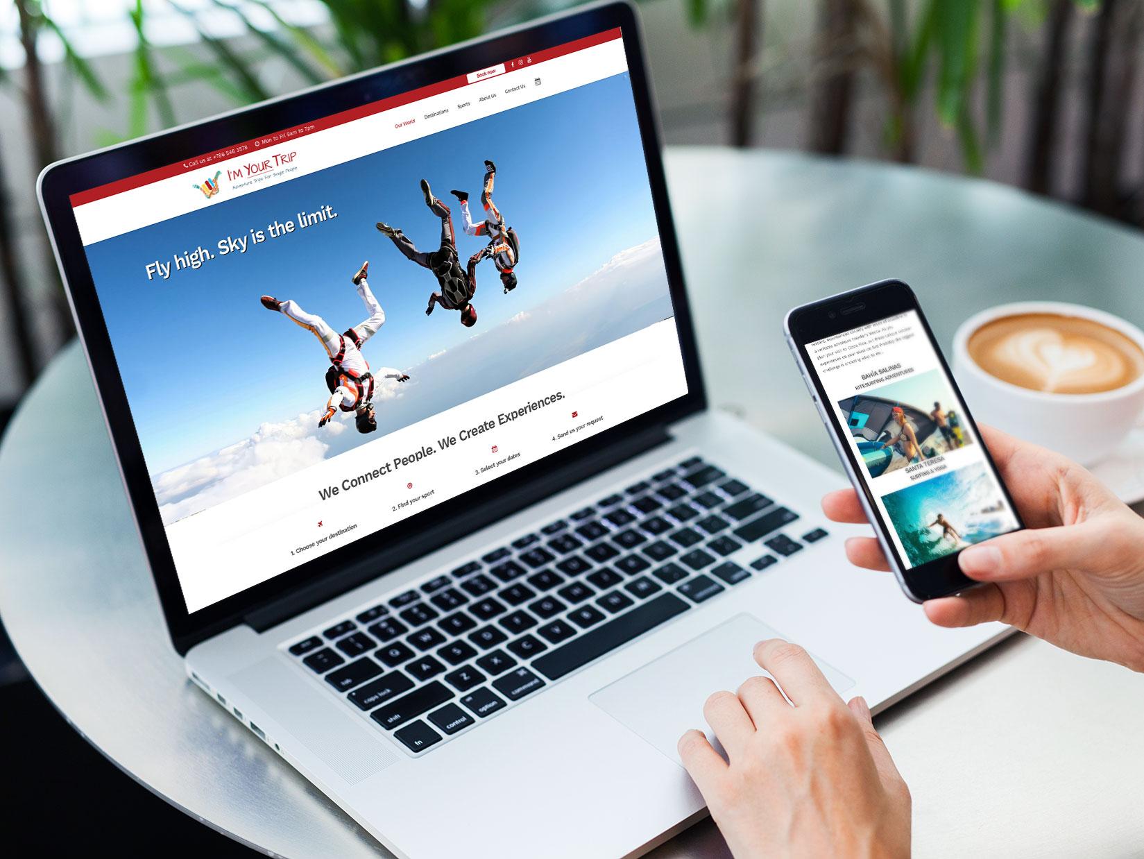 Diseño web para I'm Your Trip.
