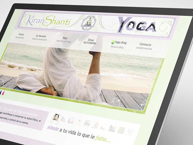 Desarrollo web para KiranShanti Yoga Hendaye. Alojamiento.