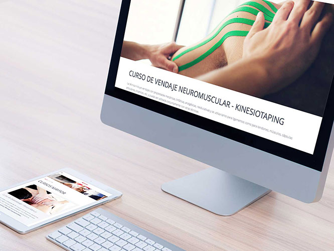 Web responsive para Mayfor, escuela de masaje profesional. Alojamiento, RRSS.