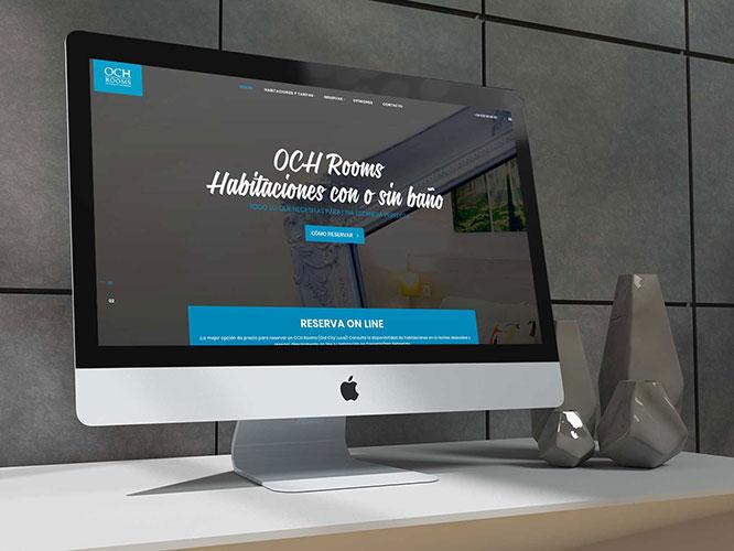 Desarrollo web responsive e integración con sistema de reservas para OCH Rooms San Sebastián. Alojamiento, RRSS.