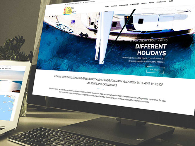 Desarrollo web para Selin's Sail. SEO, alojamiento, Redes Sociales.