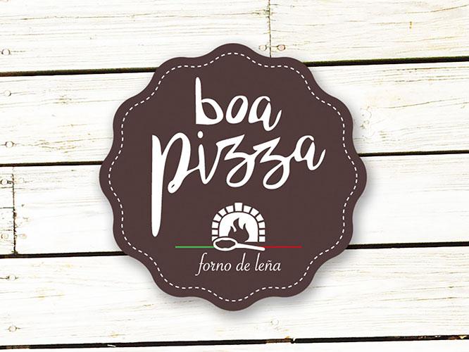 Diseño Logo: creación logotipo Boa Pizza. Enredando Portfolio.